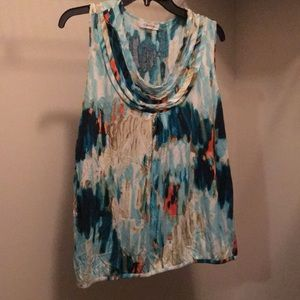 Calvin Klein Patterned Sleeveless Top